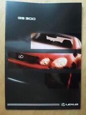 LEXUS GS300 orig 1997 1998 UK Mkt Glossy Sales Brochure