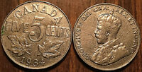 1934 CANADA 5 CENTS COIN GRADE G or Better BUY 1 OR MORE Its free S/H