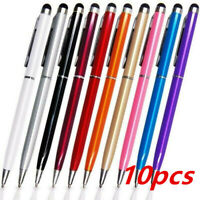 10 Pcs 2 in1 Touch Screen Stylus Ballpoint Pen for iPad iPhone Smartphone Tablet