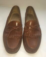 Allen Edmonds Homme en Cuir Mocassins 10 Woodstock Chaussures Marron Cravate Kiltie