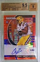 Clyde Edwards-Helaire 2020 Panini Prizm Orange Pulsar Autograph /20 BGS 9.5 Gem