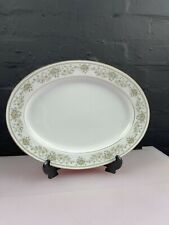 More details for noritake green hill oval carving serving platter plate 34.5 cm wide 2 available
