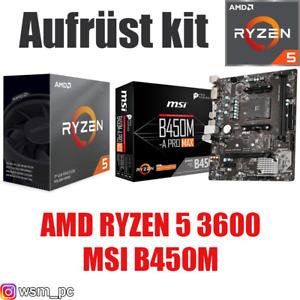 AMD 🆁🆈🆉🅴🅽 5 3600 ● MSI B450 Mainboard ● Ryzen PC Bundle Set Kit