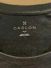 caslon womens cotton blend long sleeve black large
