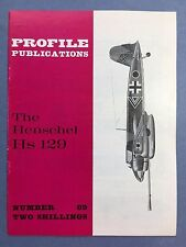 No.69 - AIRCRAFT PROFILE PUBLICATIONS - The Henschel Hs 129 - VG Condition