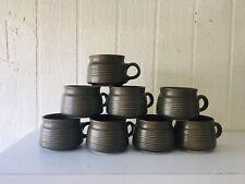 Denby Langley SHERWOOD Mugs SET OF 8 Stoneware Vintage