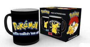Pokemon Pikachu Kalt Heiß Wechselnd es Bild Kaffee Tasse
