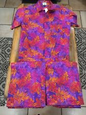 Zesties Male Pumpsuit Jumpsuit Autumn Tropics Size Large Nwt