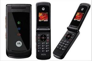 Motorola W270 GSM Cellphone MP3 Unlocked Mobile Phone Black Cellphone