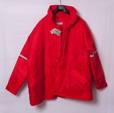 FIREFIGHTER Like Red  Hooded Zipper Jacket Coat 3XL