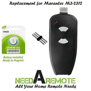 For Marantec M3-2312 (315 MHz) 2-button Garage Door Opener Remote, Gray