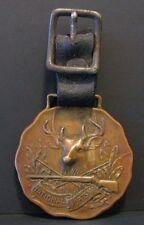 National Sportsman Magazine Whitetail Deer Buck Gun Brass Pocket Watch Fob Lyons
