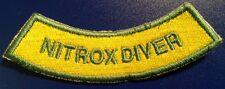 NITROX DIVER down ROCKER CHEVRON SCUBA ENRICHED AIR  PATCH rebreather wreck NEW