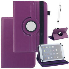 """360 Rotating PU Leather Stand Case Cover For 9.7"""" 10"""" 10.1"""" inch Tablet+Pen Gift"""