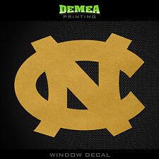 "UNC - North Carolina Tar Heels - NCAA - Gold Vinyl Sticker Decal 5"""