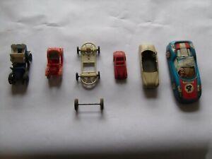 Lot de Voitures Miniatures anciennes BONUX, MINIALUXE, HUILOR