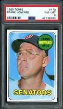 1969 Topps #170 Frank Howard Senators PSA 8