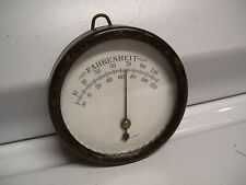 1920' s Vintage Thermometer Metal glass USA made gauge wall garage 1930s old 40s