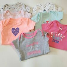 Baby Girl Summer LOT of 7 Short Sleeve Creepers Carters Size 3 mos