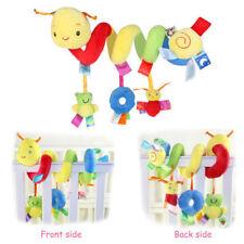 Kid Mobile Crib Music Toy Baby Crib Cot Pram Ringing Bed Bell Spiral Rattles UK