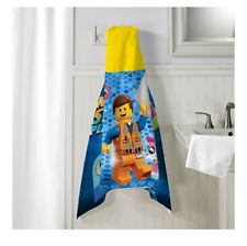 *New* The Lego Movie 2 Hooded Towel Wrap, 24 In X 50 In
