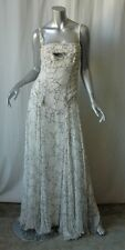 CAROLINA HERRERA White *SILK CHIFFON* Gown Long Dress 8
