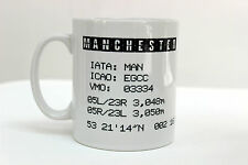 Manchester Airport Aviation Pilot Shortwave Gift Mug