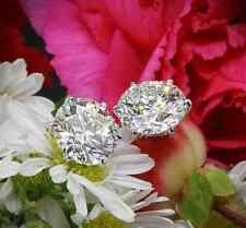 1 CT 6mm 2 CARAT TW PLATINUM/STEEL ALLOY GLEAMING SIMULATED MOISSANITE EARRINGS