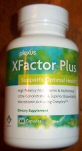 Plexus Slim XFactor Plus Multivitamin Diet SEALED NEW Full 60 capsules Exp 6/22
