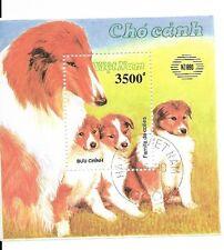 North Vietnam 1990 Dogs - Collies Souvenir Sheet sc# 2105 MNH