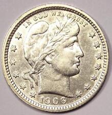 1906-O Barber Quarter 25C - Excellent Condition - Rare Date Coin!