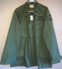 Us Army Vietnam 1969 Men's 82nd A/B Rs Wr Cotton Shirt X-Large Reg Used Sg117