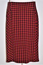 J Jill Womens Petite Buffalo Plaid Skirt Size M Red Black Lined Stretch