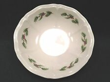 Wedgwood QUEEN'S HOLLY Christmas Coupe Cereal Bowl ENGLAND- 6 1/4""