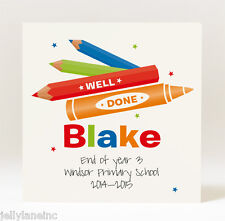 Handmade Personalised Well Done at School Card - Boy