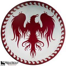 Large Greek RISING PHOENIX SHIELD -- sca/larp/wood/spartan/celtic/viking/armor