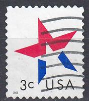 USA Briefmarke gestempelt 3c Stern Jahrgang 2002 / 197