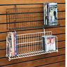 "Slatwall Gridwall Pegboard Shelf DVD CD Book Video Game Display 24"" & 48"" 10 PCS"