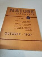 Vintage Nature Magazine October 1937 Saratoga Springs No ML Complete EUC