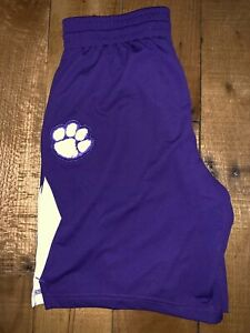Women's Nike Polyester Clemson Tigers Purple & Orange Basketball Shorts M NWT
