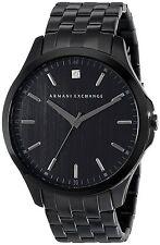 Armani Exchange Men's AX2159 Diamond Black Dial Black Steel Bracelet Watch