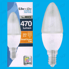 8x 5,5 w Led Ultra Bajo Consumo de energía, Instant On, Perla Vela Bombilla, ses, E14 Lámpara