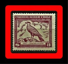 FAUNA, TRARO, CARACARA VULGARIS, CLAUDIO GAY BOOK, MNH, AIR MAIL, 1948