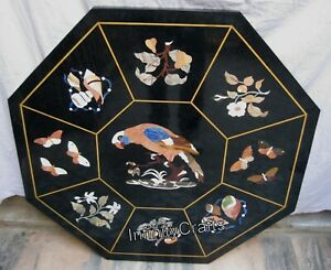 Beautiful Design Inlay Work black Coffee Table Marble Center Table Top 30 Inches