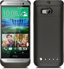 HTC One M8 Extended Extra Battery Juice Power Pack Charger Case hybrid Cover