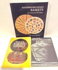 3 Native Am Basketry Books Indian Basketry, Am Ind & Eskimo Basketry, Sw Baskets
