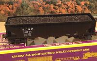 MTH  VERY RARE!!!SANTA FE HOPPER with CUSTOM COAL LOAD  PURPLE BOX