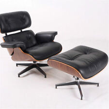 Eames Lounge Chair 100% Top Grain Italian Black Leather Walunt Wood -Hot Sale!!
