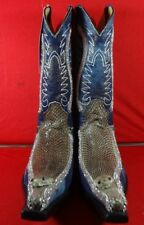 Mens  Exotic  COBRA SNAKE AND MEZCLILLA  Western Cowboy Boots   C80