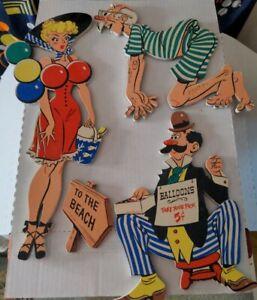 vintage Gay 90s Rumpus Room Pin ups Home Decor The Dolly Toy Company Set no box
